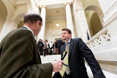 "State Senator Jason Rapert, right, sponsored the ""Human Heartbeat Protection Act"""